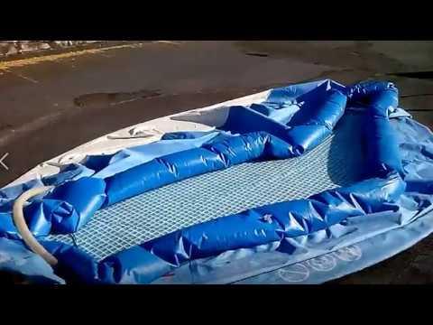 Как заклеить дно бассейна с водой.