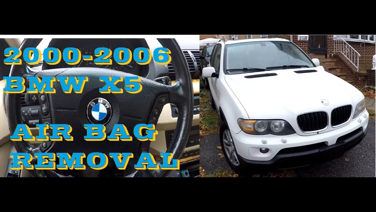 How to remove Bmw X5 Air bag 2000-2006 (e53)