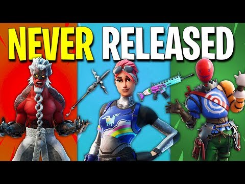 NEVER RELEASED Fortnite Cosmetics! (2017-2020)