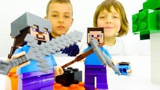 Игры для детей: Майнкрафт Лего. ИгроБой Адриан и Глеб!