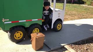 "Windy Day Trash Pick Up - Aidan ""The Garbage Truck Kid""  