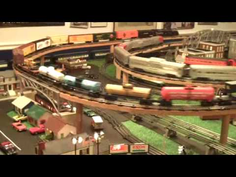 Lionel train layout by the Curto family