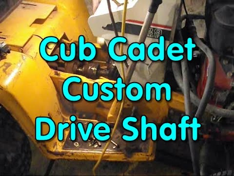 cub cadet drive shaft build part 2 of 2 youtube. Black Bedroom Furniture Sets. Home Design Ideas