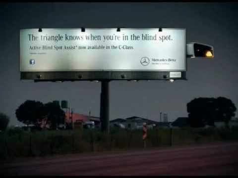 Mercedes-Benz 'The Triangle Knows' Motion-Sensing Billboard