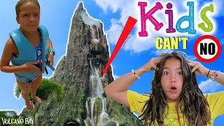ATTEMPTING KIDS CAN'T SAY NO CHALLENGE AT VOLCANO BAY WATER PARK | SISTER FOREVER