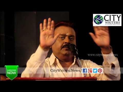 Captain Vijayakanth comedy speech at Tamilan Endru Sol Movie Pooja