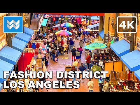 Walking tour of Santee Alley LA Fashion District in Downtown Los Angeles USA ��【4K】