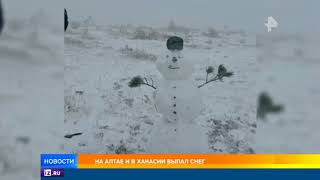 На Алтае выпал снег