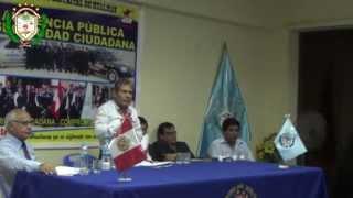 Primera Audiencia Pública de Seguridad Ciudadana CODISEC Hualmay 2014