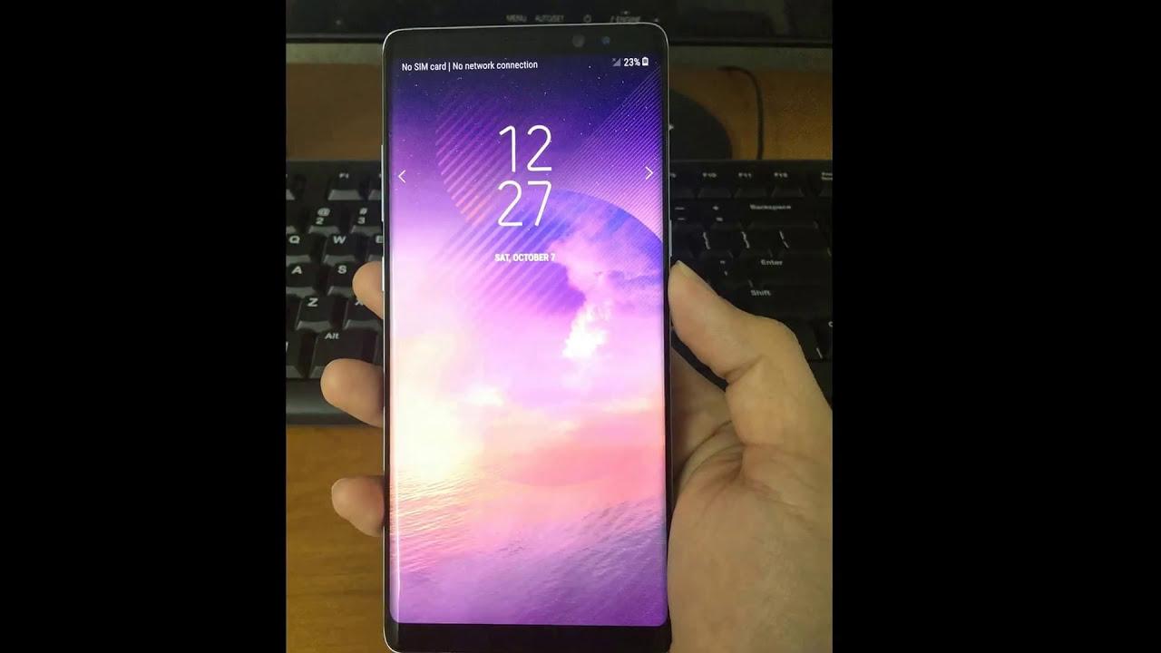 Remove Retail Demo mode Samsung Galaxy Note 8 Verizon N950U