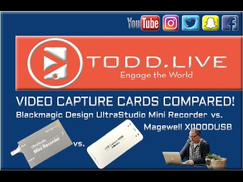 Capture Card Challenge! Blackmagic Design UltraStudio Mini Recorder vs   Magewell XI100DUSB-HDMI