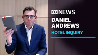 Daniel Andrews offers 'unreserved apology' for mistakes made in hotel quarantine program | ABC News