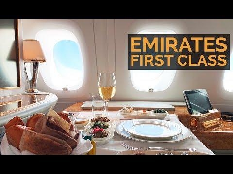 EMIRATES A380 PRIMEIRA CLASSE - De Dubai para São Paulo