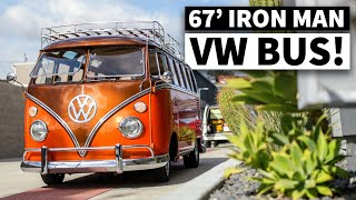 """Iron Man"", aka Gabriel Iglesias' Bare Shell Restored 21-Window VW Bus"