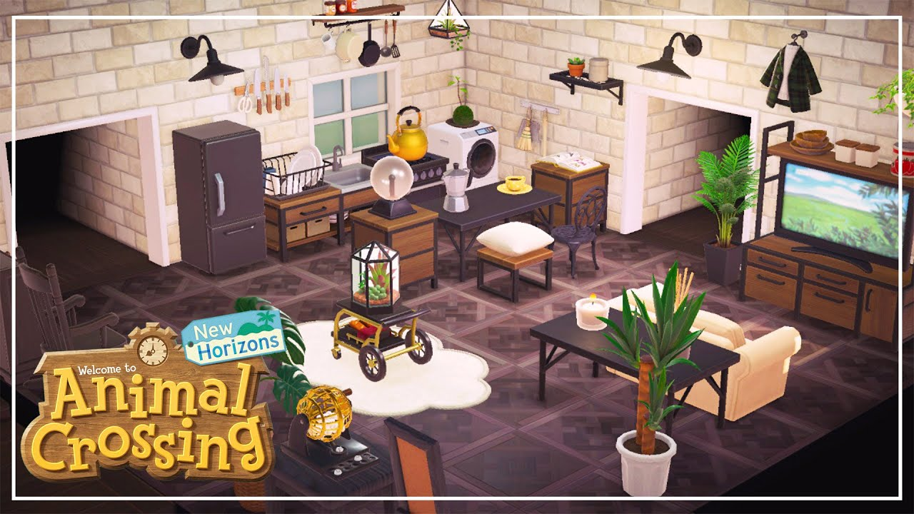 KITCHEN AND LIVING ROOM🏝️Let's DEEcorate in ANIMAL ... on Living Room Animal Crossing New Horizons  id=29842