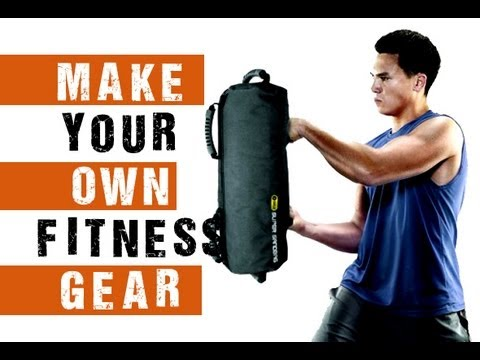 how to make your own home fitness equipment sandbag youtube