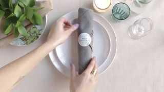 Table Setting Tips: Napkin Folds - Silverware Napkin Roll