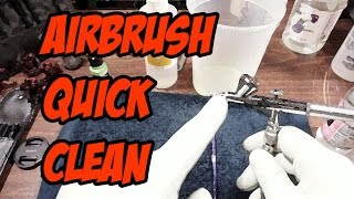 Airbrush quick-clean: Cleaning between colors
