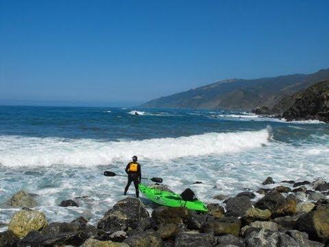 Big sur kayak fishing rockfish in california youtube for Big sur fishing