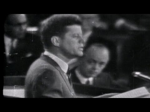This Day In History: John F. Kennedy's moon shot speech