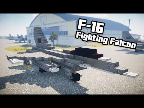 27e07a6f6e85 Minecraft F-16 Fighting Falcon Fighter Jet Tutorial