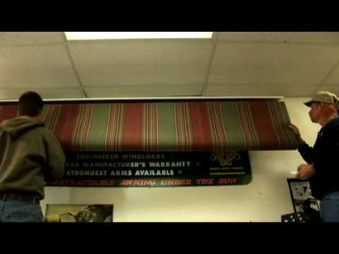 recovering a retractable awning youtube