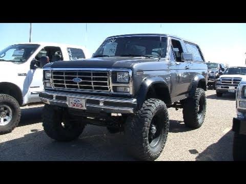 Cummins Turbo Diesel >> Powerstroke turbo diesel swapped BRONCO - YouTube