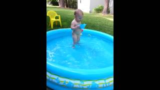 Delaney in the baby pool 6/2/13