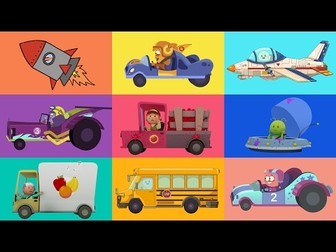 CARTOONS FOR KIDS ★ Cars, trucks, planes and more! ★ Vehicle
