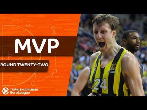 Turkish Airlines EuroLeague Regular Season Round 22 MVP: Jan Vesely, Fenerbahce Dogus Istanbul