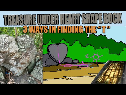 TREASURES UNDER HEART SHAPED ROCK