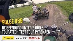 Reiseenduro unter 2000 € MZ ETZ 250 & Touratech Test Tour Pyrenäen – Motorradreise.TV #65