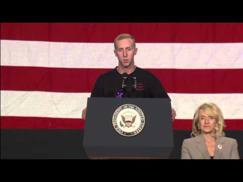 Sole survivor of Granite Mountain Hotshots speaks at memorial