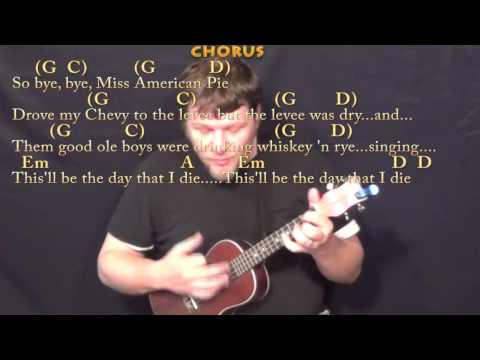 American Pie (Don McLean) Ukulele Cover Lesson with Chords/Lyrics
