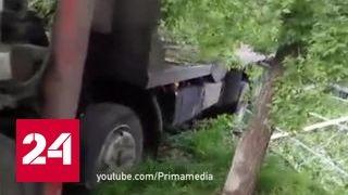 Эвакуатор нанес ущерб машинам и кафе во Владивостоке
