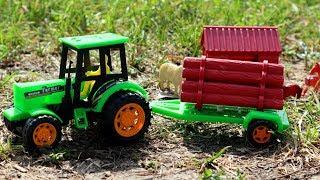 Трактор на ферме. Игрушки. Видео для детей. Игрушечный трактор