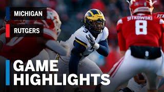 Highlights: Michigan Wolverines vs. Rutgers Scarlet Knights | Big Ten Football