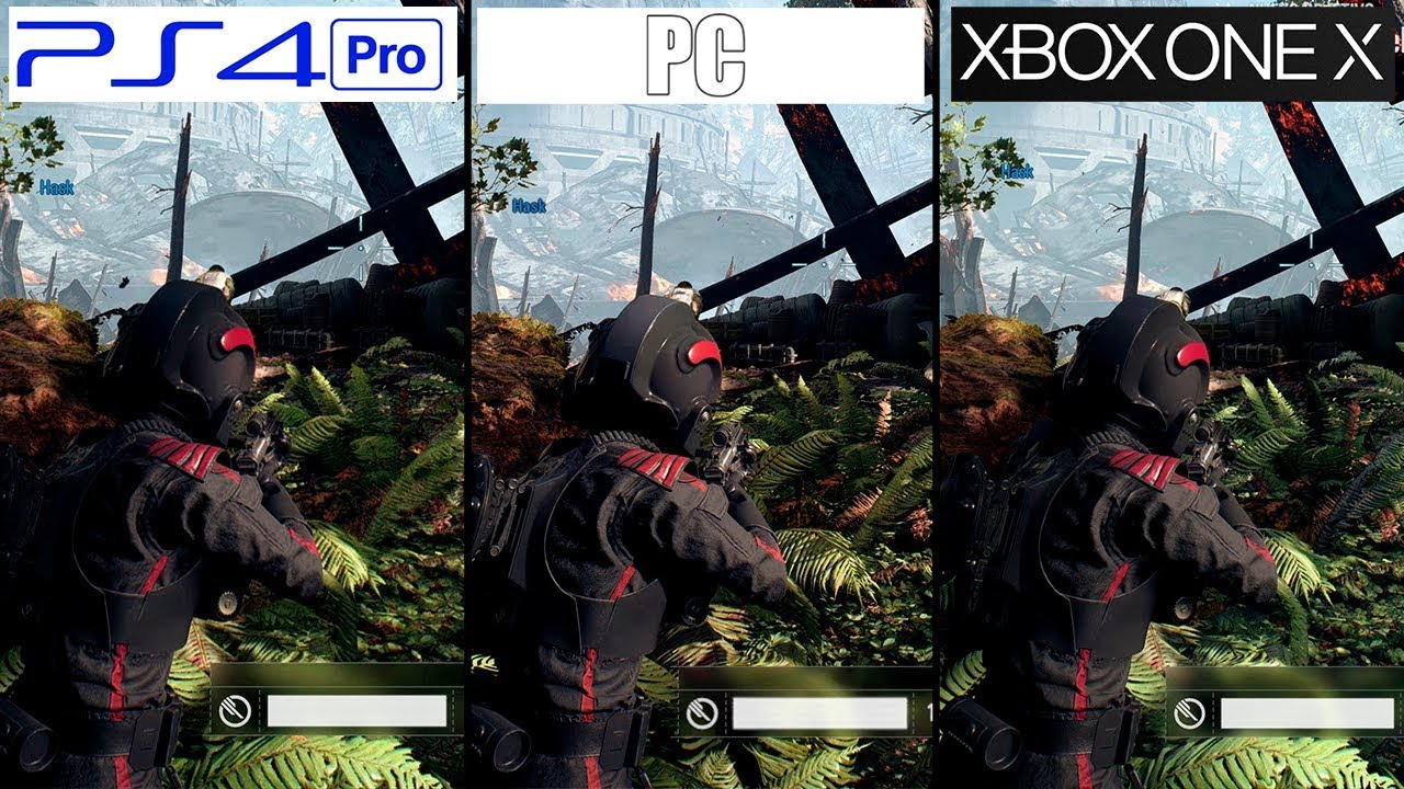 battlefront ii ps4 pro vs xbox one x vs pc 4k graphics