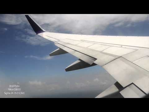 Boeing 737-900ER takeoff from Hang Nadim Int'l Airport of Batam