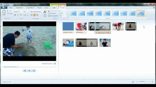 How to add text in Windows Live Movie Maker