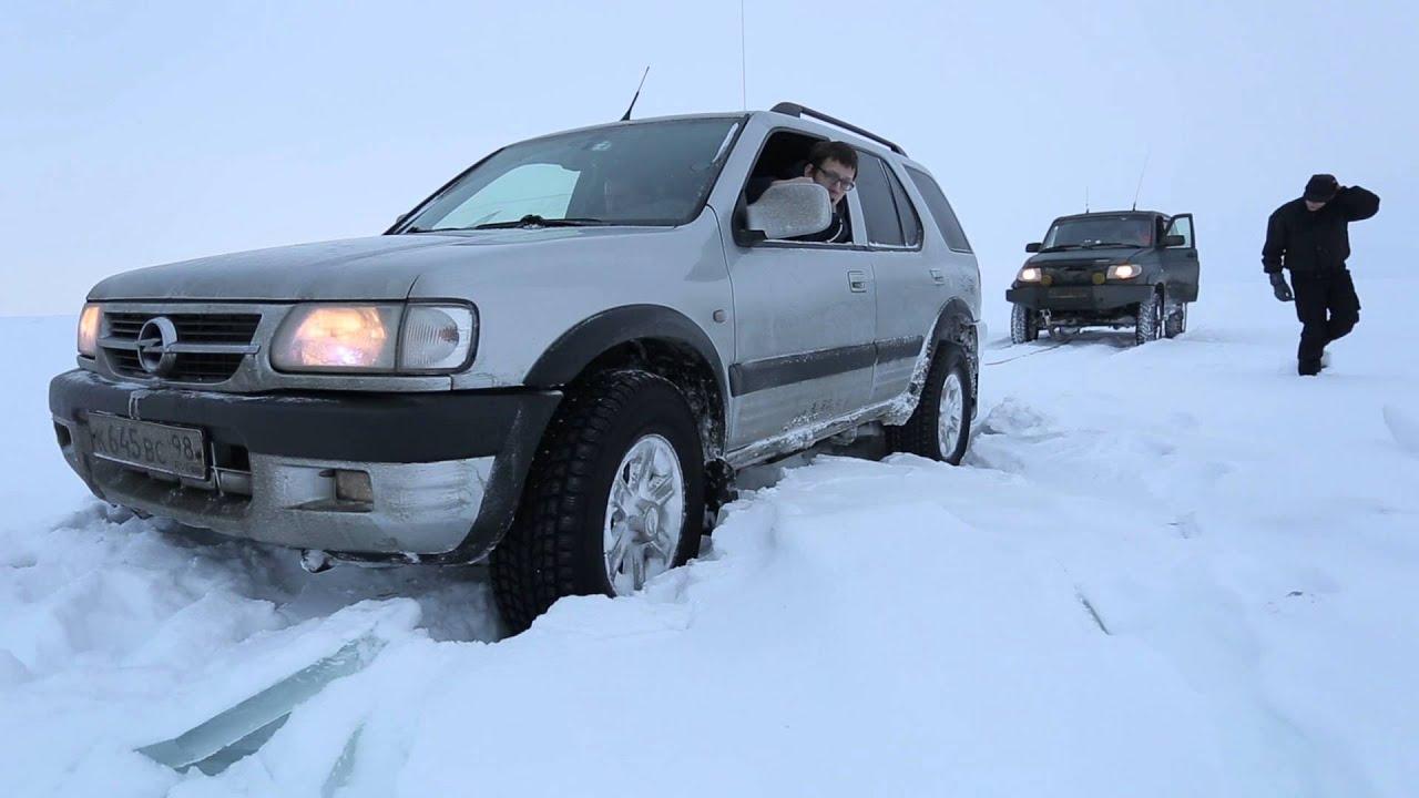 Едем по льду Ладожского Озера. Дорога Жизни.