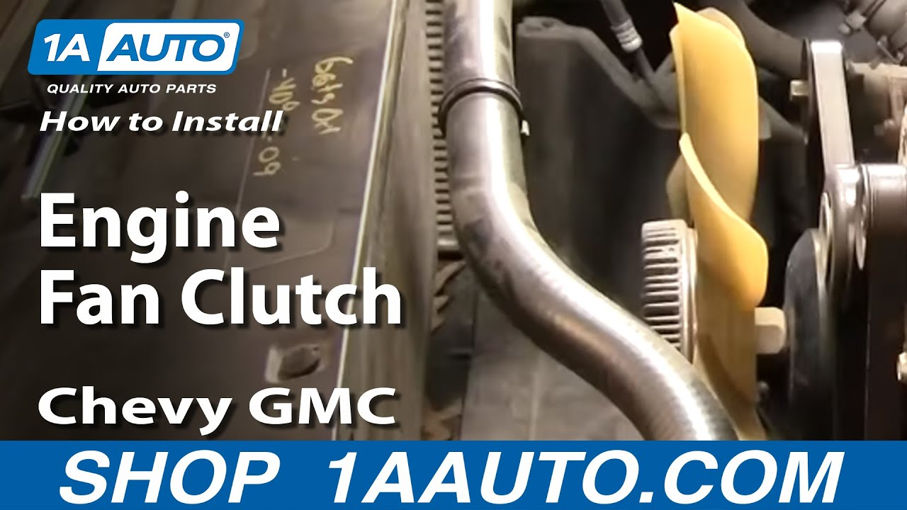 hight resolution of how to install replace engine fan clutch chevy gmc silverado sierra tahoe yukon 96 04 1a auto com