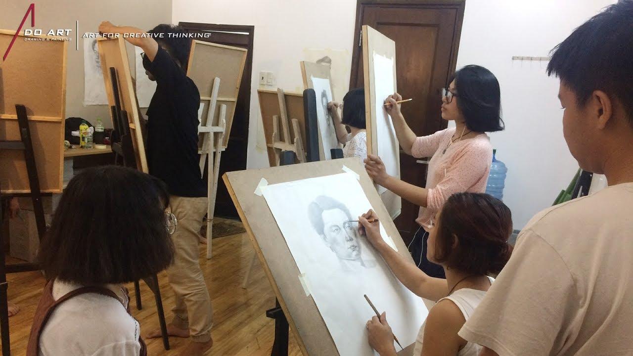 Lớp vẽ chân dung - Luyện thi khối H [DO ART]