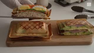 [키토제닉 레시피] 샌드위치메이커 플래드로 저탄수 샌드…