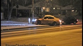 12/7/2012 Bloomington, MN Slick Roads and drivers crashing on camera