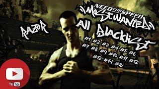 NFS Most Wanted 2005: All Blacklist bios | HQ 1080p