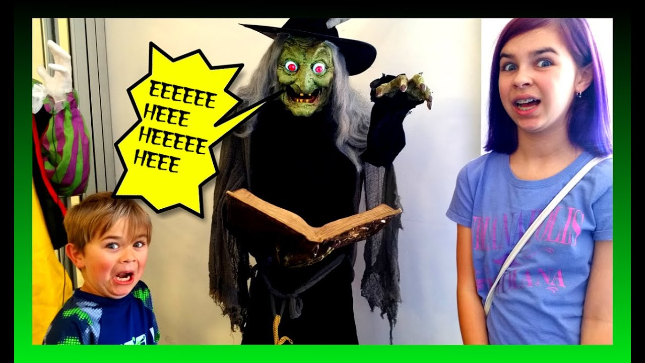 halloween costume decorations shopping scary fun family vlog youtube