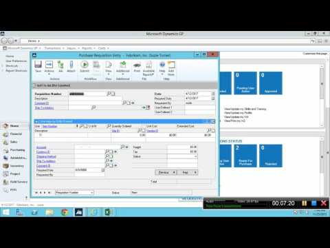 Video Microsoft Dynamics GP Training