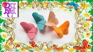Как легко сделать Бабочку из бумаги. Оригами. How to make a batterfly of paper easy. Origami.(В этом видео я покажу как легко сделать своими руками Бабочку из бумаги. Это поделка - Оригами из серии