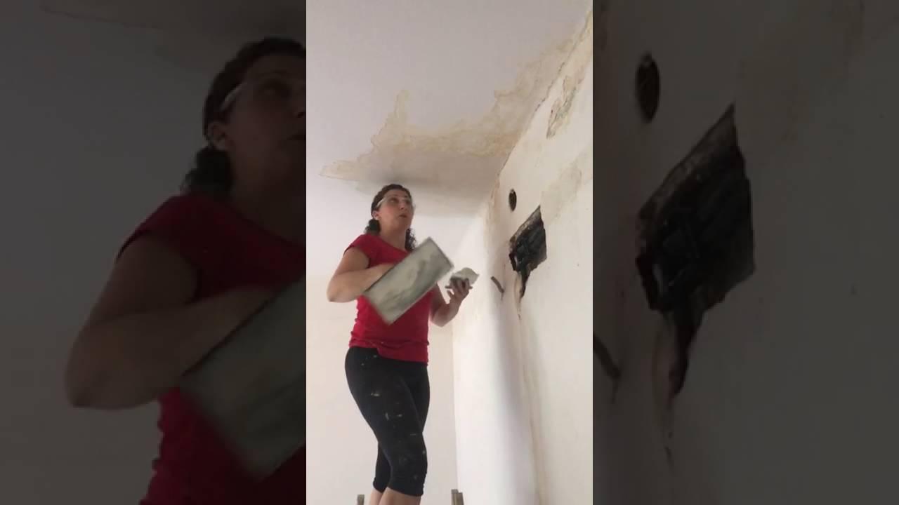 reparar y enlucir techo. - youtube